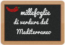 millefoglie di verdure del Mediterraneo